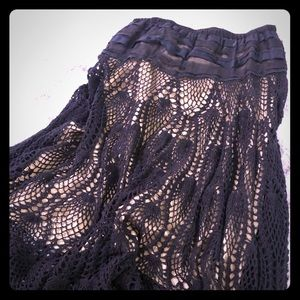 Dresses & Skirts - Black Net Cotton Skirt.
